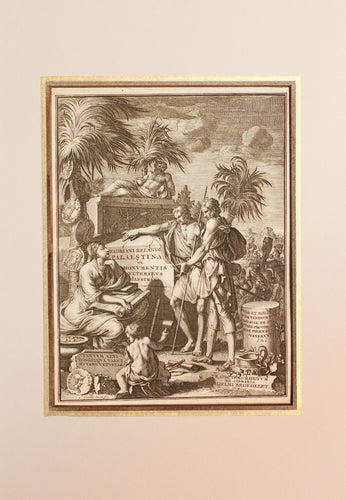 A Frontispiece - Antique Copper Engraving circa 1714