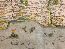 Load image into Gallery viewer, A New Map of Sussex Corrected and Amended Rare Map circa 1685