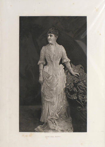 Adelina Patti - Antique Photogravure circa 1880