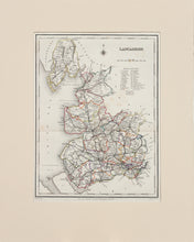 Load image into Gallery viewer, Lancashire - Antique Map by J&C Walker circa 1842