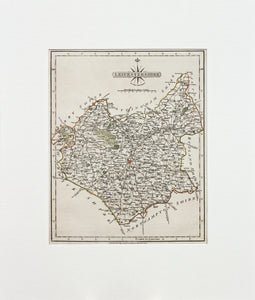Leicestershire - Antique Map by John Cary 1792
