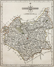 Load image into Gallery viewer, Leicestershire - Antique Map by John Cary 1792
