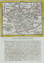 Load image into Gallery viewer, Leicestershire - Antique Map by Seller/Grose 1694 - 1787
