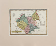 Load image into Gallery viewer, Leicestershire - Antique Map by J Wallis circa 1812