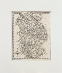 Lincolnshire - Antique Map by John Cary 1793