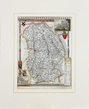 Load image into Gallery viewer, Lincolnshire - Antique Map by Thomas Moule circa 1836
