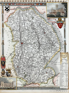 Lincolnshire - Antique Map by Thomas Moule circa 1836