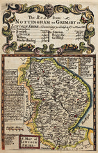 Load image into Gallery viewer, The Road from Nottingham to Grimsby - Antique Map circa 1720