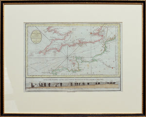 The British Channel, including the Coasts of England & France - Antique Sea Chart circa 1784