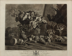 A Fine Mezzotint by Richard Earlom 'A Fruit Piece'