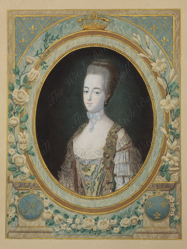 Marie Antoinette of France - Antique Aquatint circa 1777