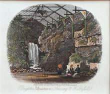 Load image into Gallery viewer, Fernery and Waterfall Grand Aquarium Brighton - Antique Steel Engraving 1873