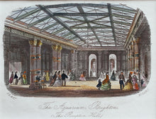 Load image into Gallery viewer, The Reception Hall The Grand Aquarium Brighton - Antique Steel Engraving 1873