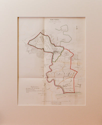 Arundel - from the Ordnance Survey - Antique Map 1831