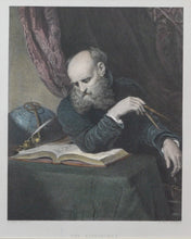 Load image into Gallery viewer, The Astronomer - Antique Steel Engraving circa 1860