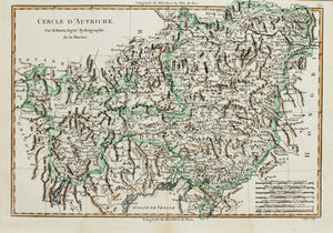 Cercle dAutriche - Antique Map circa 1780