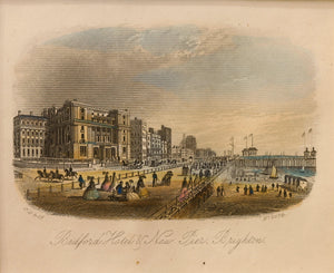 Bedford Hotel and New Pier Brighton - Steel Engraving circa 1866