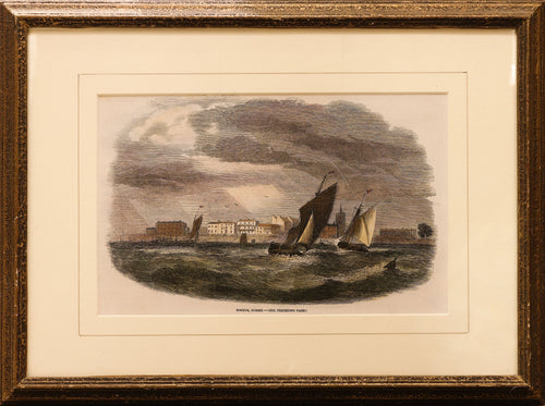 Antique Wood Engraving of Bognor, West Sussex, circa 1850