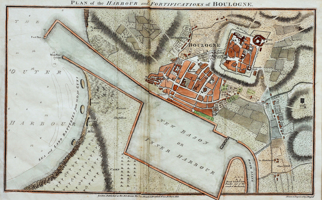 Plan of the Harbour and Fortifications of Boulogne