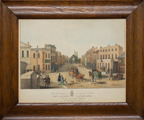 Bow Church County of Middlesex - Lithograph circa 1850s