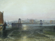 Load image into Gallery viewer, Brighton Chain Pier - Antique Steel Engraving circa 1859