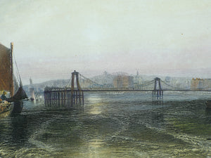 Brighton Chain Pier - Antique Steel Engraving circa 1859