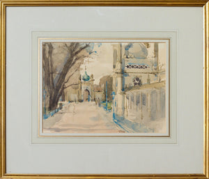 Royal Pavilion with the North Gate - Watercolour Sergeant, 1969