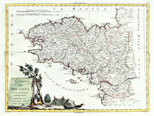 Load image into Gallery viewer, Brittany - Antique Map circa 1777