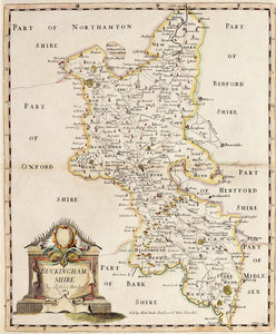 Buckinghamshire - Antique Map by Robert Morden 1722