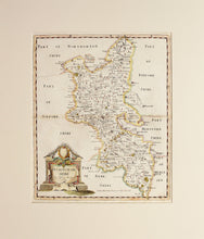 Load image into Gallery viewer, Buckinghamshire - Antique Map by Robert Morden 1722