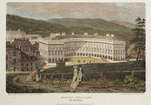 Load image into Gallery viewer, Buxton Crescent Derbyshire - Antique Copper Engraving circa 1804
