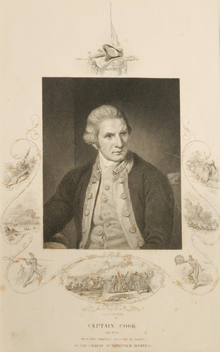 Captain Cook - Antique Steel Engraving circa 1850s