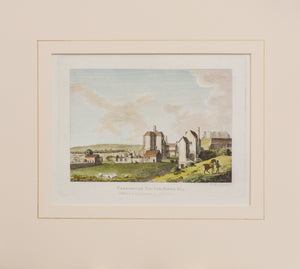 Caresbroke Castle Isle of Wight - Copper Engraving 1784
