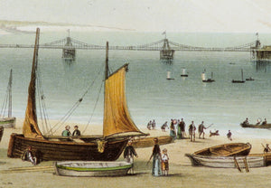 The Chain Pier, Brighton - Antique Chromolithograph circa 1880's