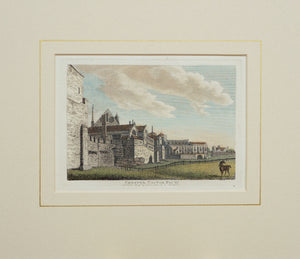 Chester Castle - Antique Copper Engraving circa 1784
