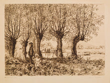 Load image into Gallery viewer, Cleve Mill Gloucester - Antique Etching by Heywood Sumner circa 1880