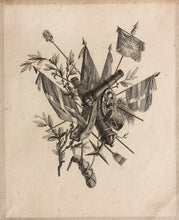 Load image into Gallery viewer, 1 of Three Military Inspired Designs - Copper Engraving circa 1775