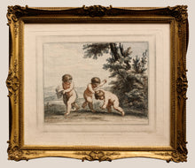 Load image into Gallery viewer, Cupids at Play Stipple Engraving by Bartolozzi 1787