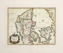 Load image into Gallery viewer, North Jutland - Antique Map of Denmark by Sanson circa 1648