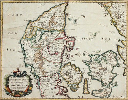 North Jutland - Antique Map of Denmark by Sanson circa 1648