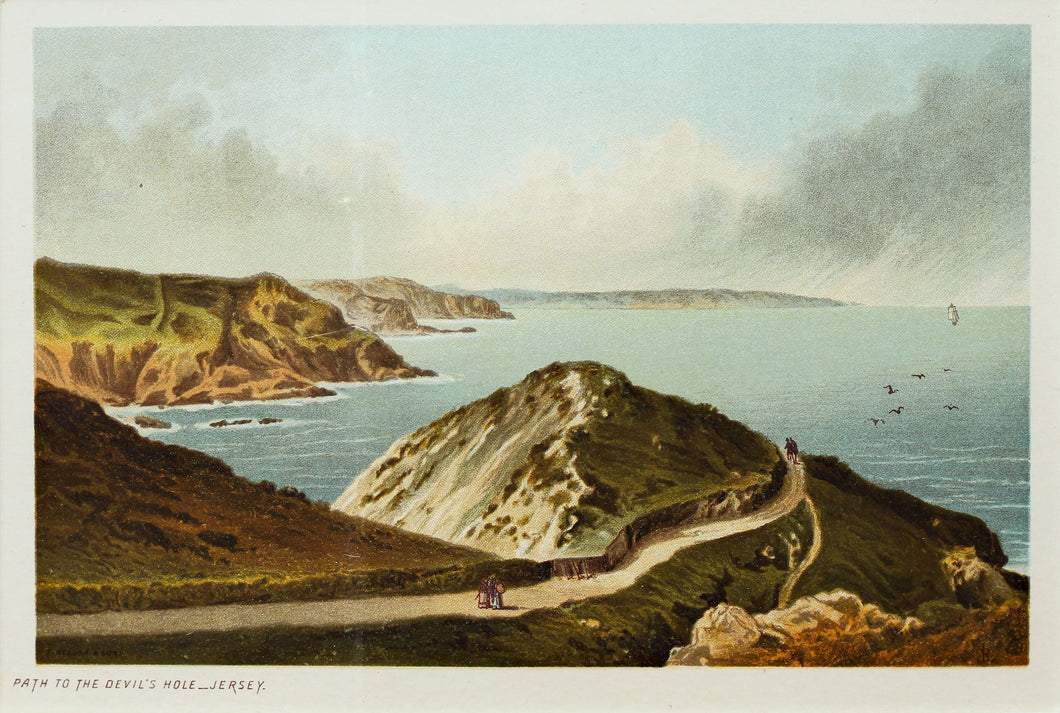 Path to the Devils Hole Jersey - Antique Chromolithograph circa 1880
