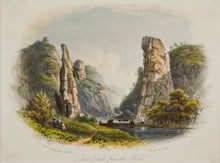 Load image into Gallery viewer, Dove Dale from the North - Antique Steel Engraving circa 1848
