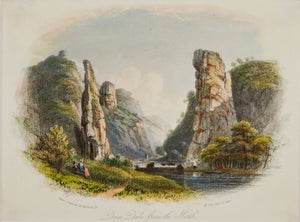 Dove Dale from the North - Antique Steel Engraving circa 1848