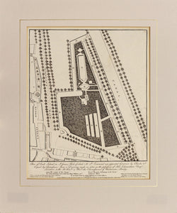 Plan of Duck Island - Antique Plan of St James Park 1807