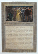 Load image into Gallery viewer, Admiral Drake Knighted by Queen Elizabeth - Antique Copper Engraving 1805