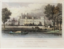 Load image into Gallery viewer, Eton College Berkshire - Antique Steel Engraving circa 1848