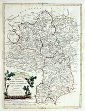 Load image into Gallery viewer, Map of Central France - Antique Map circa 1776
