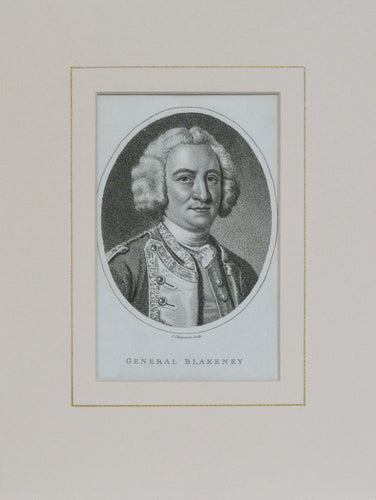 General Blakeney - Antique Stipple Engraving circa 1795