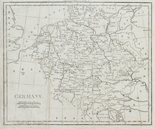 Load image into Gallery viewer, Germany from Walker's Geography - Antique Map circa 1815