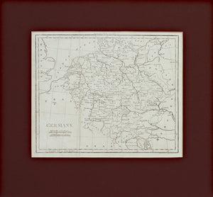Germany from Walker's Geography - Antique Map circa 1815